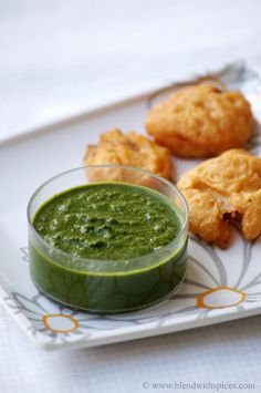 Mint Coriander Chutney Recipe for Sandwiches, Chaats and Snacks  Hari Chandana PIndianChutney Prep Time: 15 mins    |  Cook time: 5 mins    |  Makes: mo…