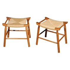 1stdibs.com | Pair of 1950s Stools in the Manner of Hans Wegner