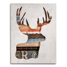 RESERVED Original Deer Art Virginia Den Collection by dolangeiman