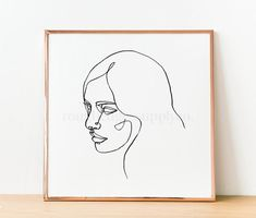 Abstract Woman Female Portrait Female Face Minimalist Wall | Etsy