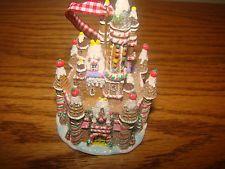 DISNEY Glittering CINDERELLA'S CASTLE Gingerbread Christmas HOLIDAY Ornament NEW