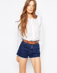 Image 1 ofM.i.h Jeans Scallop Trim Shirt