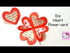 DIY Valentine Card  How to Make Triple Easle Heart I Love You