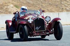 Tom Price in his 1932 Alfa Romeo 8C Mille Miglia Spyder.