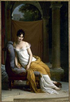 La beauté délicate de Juliette Récamier (1777-1844). Chef-d'oeuvre de F. Gérard