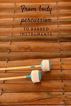 From body percussion to instruments: Ideas for using body percussion to learn pieces on barred instruments/ Orff instruments. Great for Orff-inspired, Kodaly-inspired, or active music making lessons!