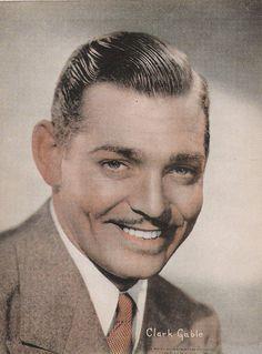 Vintage Sepiatone Print of Classic Movie Star Clark Gable