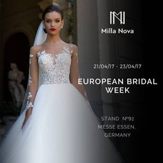 "Gefällt 1,010 Mal, 10 Kommentare - MillaNova™ (@millanova_official) auf Instagram: ""Dear friends! One of the most awaited events in bridal fashion is coming soon. MillaNova wedding…"""