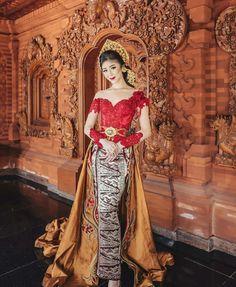 Kebaya Dress, Bali Wedding, Traditional Dresses, Red Carpet, Sari, Gowns, Costumes, Formal Dresses, Womens Fashion