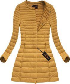 Dlhá dámska prechodná bunda horčicová x7148X Winter Jackets, Fashion, Winter Coats, Moda, Winter Vest Outfits, Fashion Styles, Fashion Illustrations