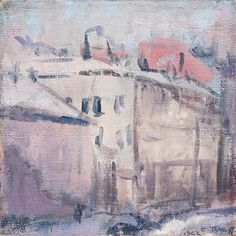Ellen Thesleff (Finnish artist) 1869 - 1952 Näkymä Helsingistä (View from… Lawrence Lee, Female Painters, Pink Room, Global Art, City Art, Hanging Art, Helsinki, Art Market, Art History
