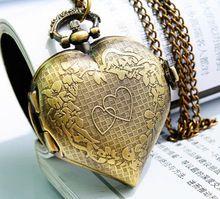cœur harry potter vintage steampunk snitch pendentif montre de poche collier(China (Mainland))