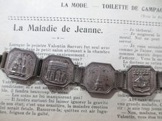 Vintage Paris Souvenir 7 Panel Bracelet   by UrbanRenewalDesigns, $75.00