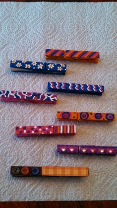 Smarty Pants: magnetic painted clothespins