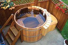 Tina hecha con barricas de roble recicladas #Wielovers #Tub #Barrels #Oak #AEV
