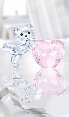 Swarovski Kris Bear with Pink Heart