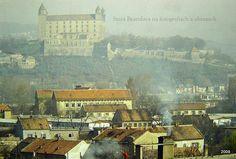 Pohlad_na_hradny_vrch_z_petrzalskej_strany_staraba. Bratislava, Old City, The Past, Old Things, Historia, Old Town