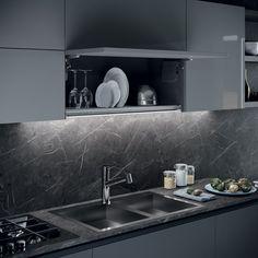 Marble Worktops, European Kitchens, Colour Combinations, Open Kitchen, The Originals, Champagne, Composition, Corner, Delicate
