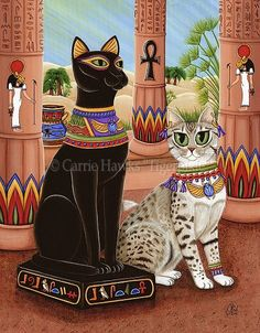 The Egyptian cat Goddess Bast, or bastet, daughter of Isis and Ra, protector of home and family, moon and sun goddess. Description from fantasticportfolios.com. I searched for this on bing.com/images