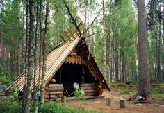Lean-to shelter at Pyydyskoski. Photo: Reijo Kuosmanen