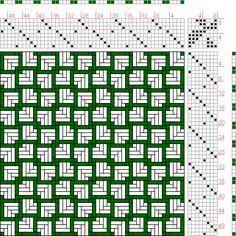 Hand Weaving Draft: Page 165, Figure 1, Orimono soshiki hen [Textile System], Yoshida, Kiju, 8S, 8T - Handweaving.net Hand Weaving and Draft Archive