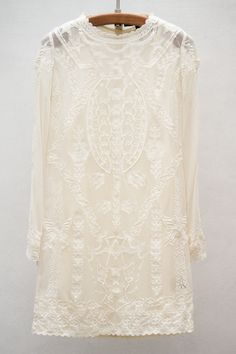 Wedding Ideas: diane-embroidered-cotton-mesh-top-cream