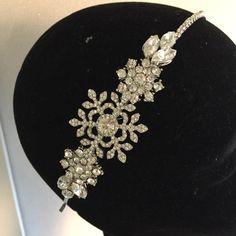 snowflake headpiece headdress diamante by Sparklebyelle