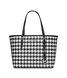 MICHAEL Michael Kors Jet Set Travel Houndstooth Print Small Travel Tote | Dillard's Mobile