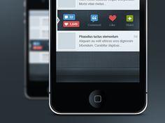 Screenshot from Beautiful Dribbble UI