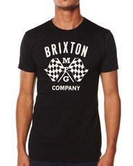 BRIXTON TRACK PREMIUM TEE - BLACK on http://www.surfstitch.com