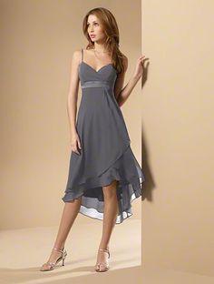 gray bridesmaid dress (maybe?)