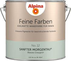 Premium-Wandfarbe. Grün, graugrün: Alpina Feine Farben SANFTER MORGENTAU - Alpina Farben
