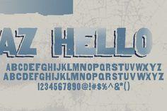 Check out AZ Hello by Artistofdesign on Creative Market