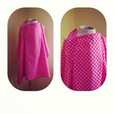 Pink Polk-A-Dot Nursing Cover (Breastfeeding Cover) on Etsy, $32.00