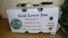 Apparently God's real name is Chucky... and he loves me. Thank you cabbage! http://ift.tt/2cOCNAK