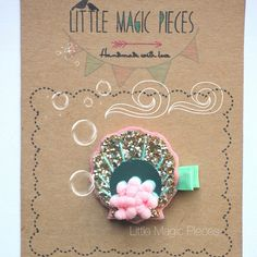 Coral Seashell Hair Clip Summer Under The Sea por LittleMagicPieces