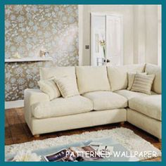 5 Super Quick Ways to Bring Spring Into Your Home - Tip 2 - Patterned Wallpaper - Click on the link to read all about the 5 super quick (and inexpensive) ways that you can bring spring into your home!