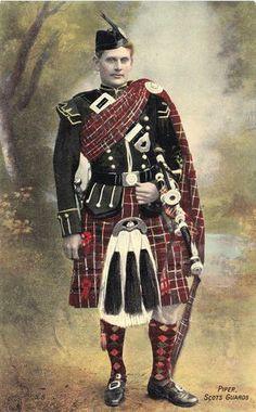 Piper Scots Guards, post card