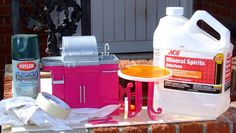 Link to article on how to paint plastic Barbie furniture -- #Paint All Kinds - #Barbie Furniture - #Barbie Tutorials