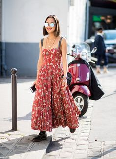 Paris fashion week street style spring 2018... Aimme Song in Dior