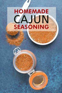 Homemade Cajun Seasoning Recipe - Chili Pepper Madness Cajun Seasoning Recipe, Creole Seasoning, Seasoning Mixes, Cajun Spice Mix, Spice Mixes, Spice Blends, Spice Rub, Hot Sauce Recipes, Cajun Recipes