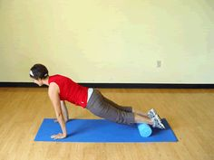 Break your plank boredom with this fun variation on a foam roller!   via @SparkPeople