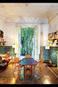 A blend of Moroccan, old Southern Mississippi town house, Provence and a splash of turkish Autobahn
