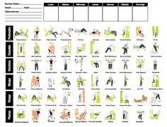 Club Infinit Fitness: Diseño Tabla para crear tu rutina de Gimnasio Personalizada