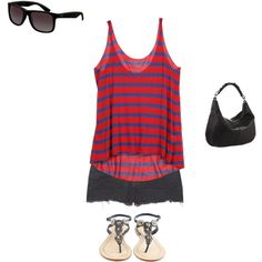 summer day, created by bbn0717 on Polyvore
