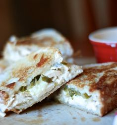 Jalapeno Chicken Grilled Cheese with White BBQ Ssauce on MyRecipeMagic.com