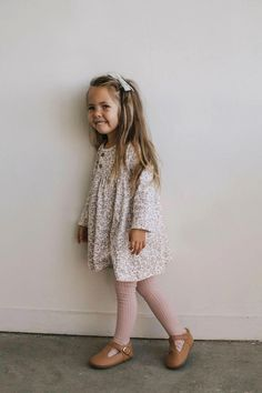 Adorable casual stylish toddler girl long sleeve dress in floral print. Perfect with leggings for a fall outfit. Toddler Fall Outfits Girl, Stylish Toddler Girl, Girls Fall Outfits, Toddler Girl Style, Little Girl Outfits, Little Girl Fashion, Toddler Fashion, Kids Fashion, Stylish Baby