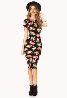 Garden Goddess Midi Dress | FOREVER 21 - 2000110708