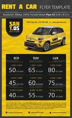 Rent a Car Promotion Flyer