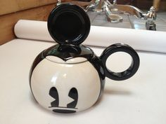 Mickey Mouse Vintage Collectible kettle pot by ToysForTallKids, $55.12